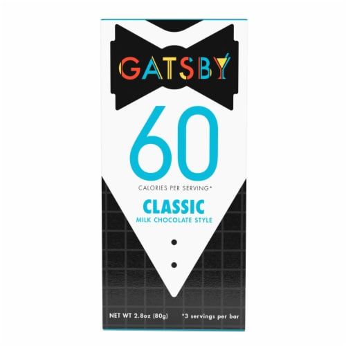 Gatsby Classic Milk Chocolate Bar Perspective: front