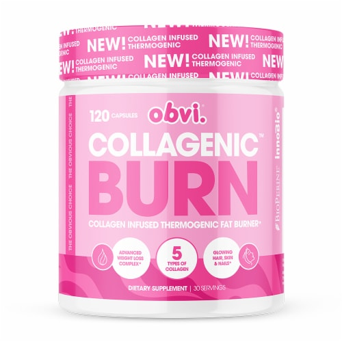 Obvi Collagen Infused Thermogenic Fat Burner Perspective: front