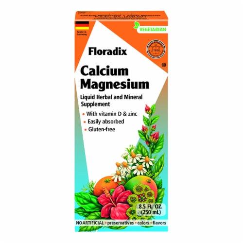 Floradix Calcium Magnesium Liquid Herbal & Mineral Supplement Perspective: front