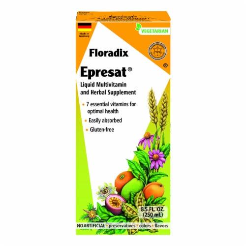 Floradix Epresat Adult Liquid Multivitamin and Herbal Supplement Perspective: front