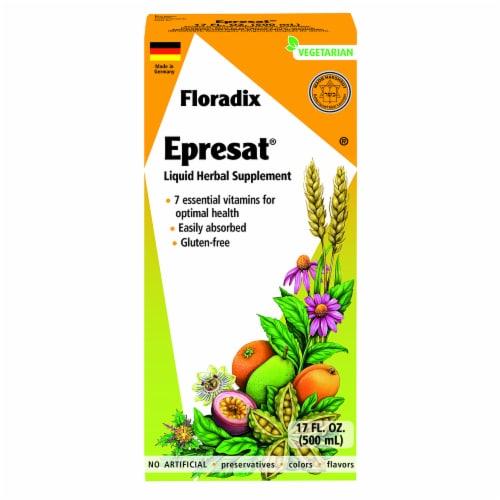 Floradix Epresat® Adult Liquid Herbal Supplement and Multivitamin Perspective: front