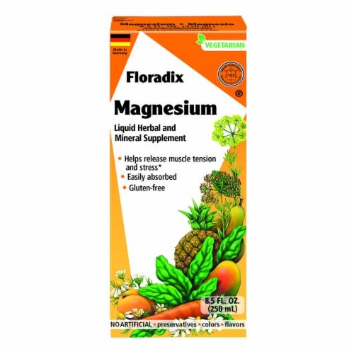 Floradix Magnesium Liquid Herbal & Mineral Supplement Perspective: front