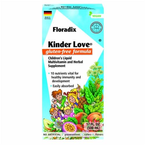 Floradix Kinder Love Gluten-Free Children's Liquid Multivitamin and Herbal Supplement Perspective: front
