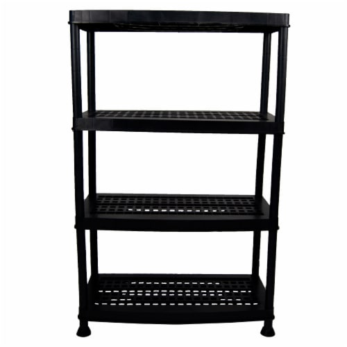 DUNA Storage & Organizing Rack - Black Perspective: front