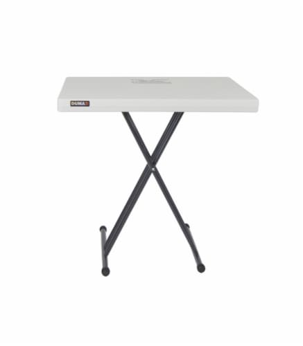 DUNA Adjustable Folding Serving Table - White/Black Perspective: front