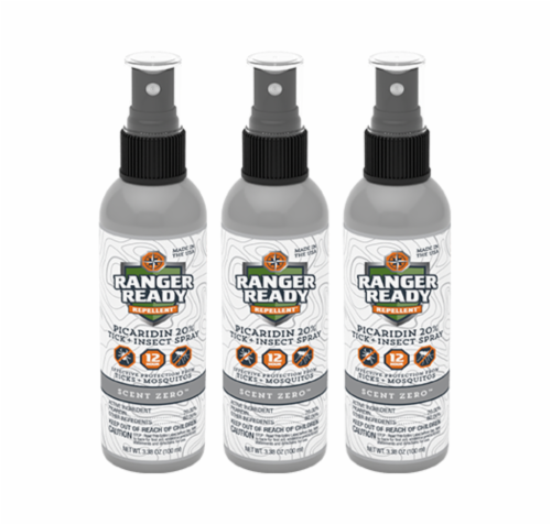 Ranger Ready Tick and Insect Repellant Spray - 3 Pack Perspective: front