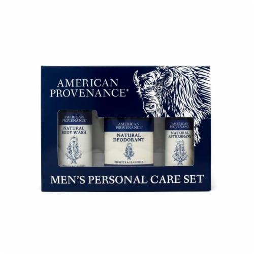 Natural Men's Gift Set; Aftershave - Firepits & Flannels Perspective: front