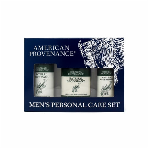 Natural Men's Gift Set; Aftershave - Shotguns & Shenanigans Perspective: front
