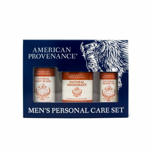 Natural Men's Gift Set; Beard Oil - Fastballs & Fisticuffs Perspective: front
