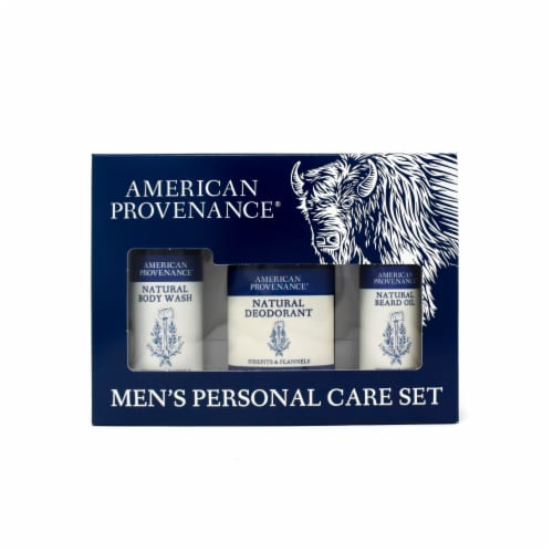 Natural Men's Gift Set; Beard Oil - Firepits & Flannels Perspective: front