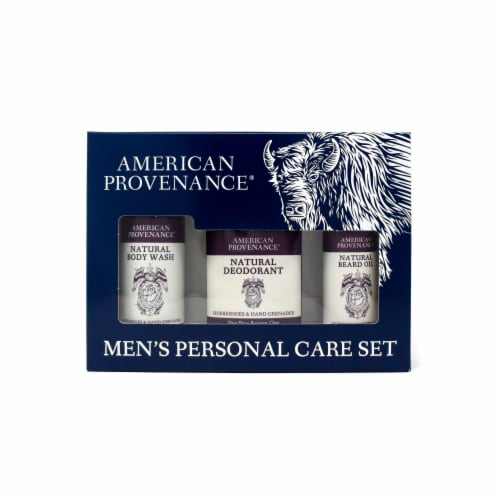 Natural Men's Gift Set; Beard Oil - Horseshoes & Hand Grenades Perspective: front