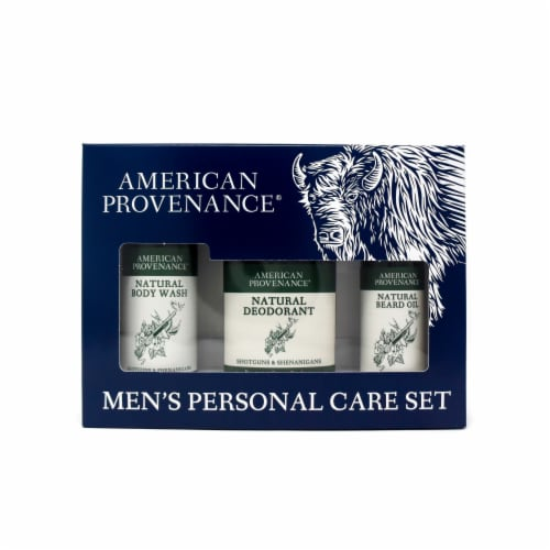 Natural Men's Gift Set; Beard Oil - Shotguns & Shenanigans Perspective: front