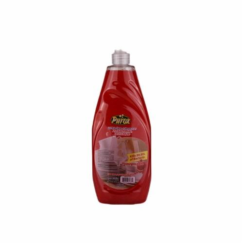 PUROX 33oz Pomegranate Dish Soap Perspective: front