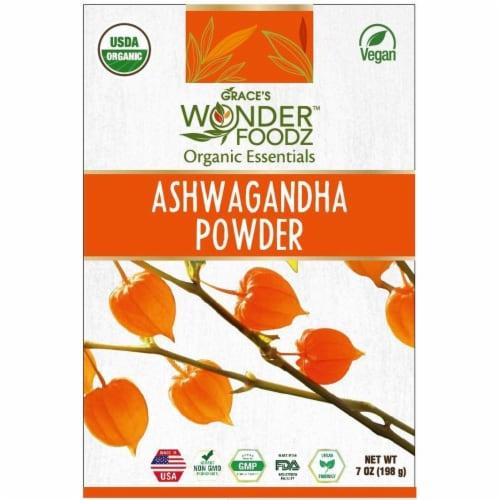 Grace's Wonder Foodz, Ashwagandha Powder Perspective: front