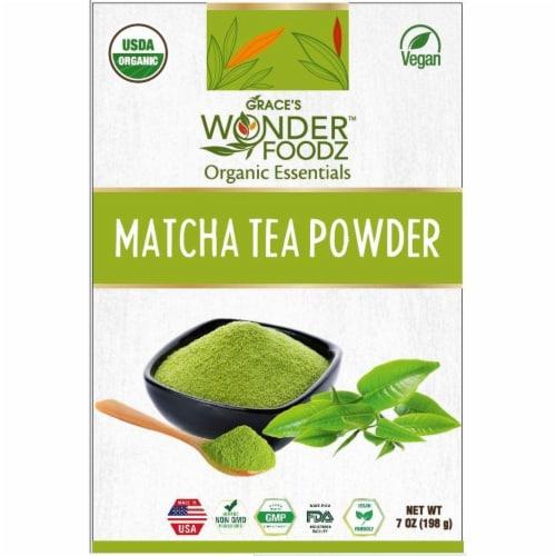 Grace's Wonder Foodz, Matcha Tea Powder Perspective: front