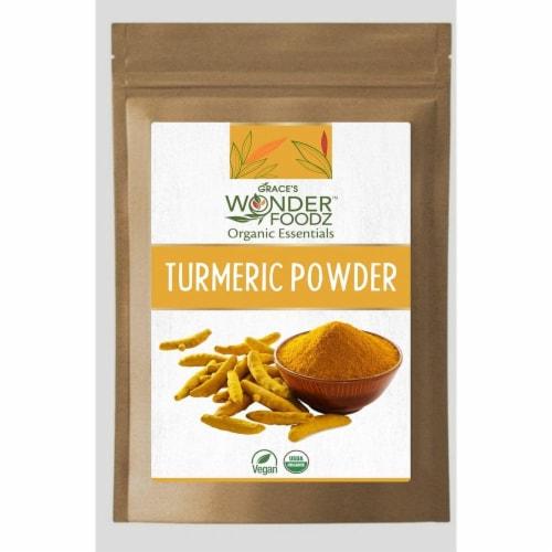 Grace's Wonder Foodz, Turmeric Powder Perspective: front