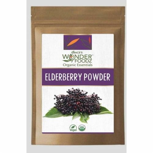 Grace's Wonder Foodz, Elderberry Powder Perspective: front