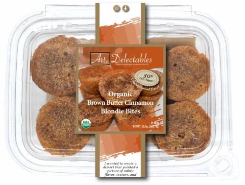 Organic Brown Butter Cinnamon Blondie Bites Perspective: front