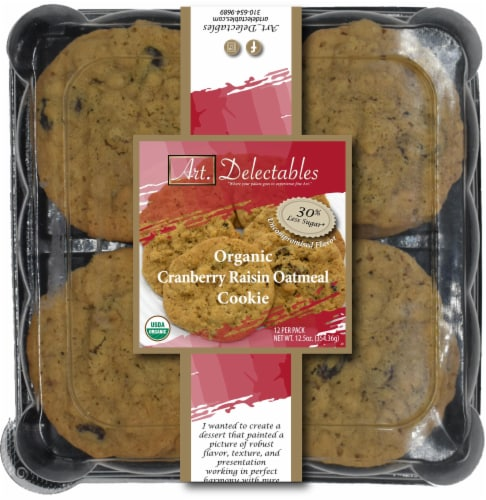 Organic Cranberry Oatmeal Cookie Perspective: front