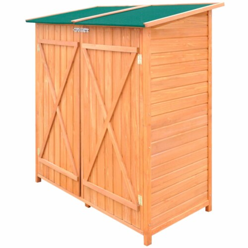 Wooden Shed Garden Tool Shed Storage Room Large Perspective: front