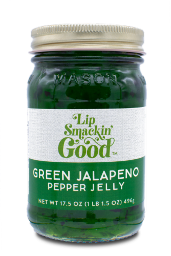 Green Jalapeño Pepper Jelly Perspective: front
