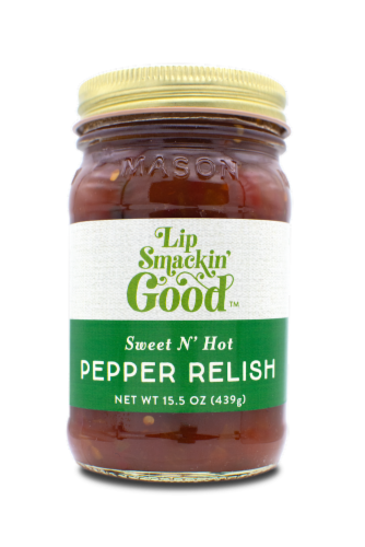 Sweet & Hot Pepper Relish Perspective: front