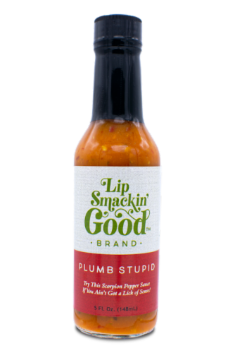 Plumb Stupid Hot Sauce Perspective: front