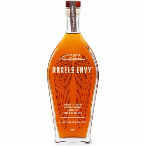 Angels Envy Bourbon Whiskey Perspective: front