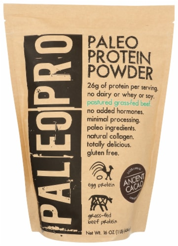 Paleo Pro Ancient Cacao Protein Powder Perspective: front