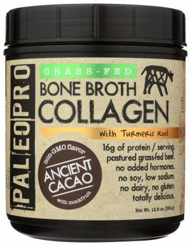 Paleo Pro Ancient Cacao Grass-Fed Bone Broth Collagen Perspective: front