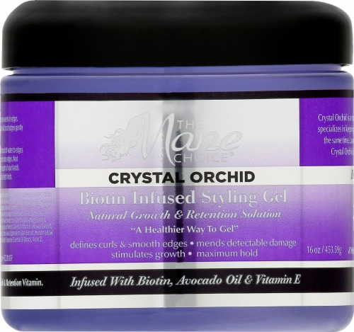 The Mane Choice Crystal Orchid Biotin Infused Styling Gel Perspective: front