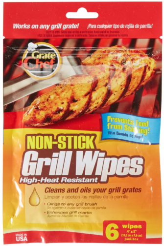 Grate Chef Nonstick Grill Wipes - 6 Pack Perspective: front