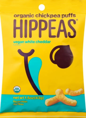 Hippeas Vegan White Cheddar Organic Chickpea Puffs Perspective: front