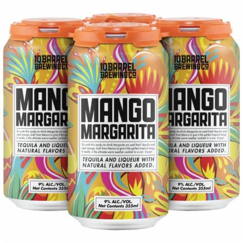10 Barrel Brewing Mango Margarita Prepared Cocktails Perspective: front