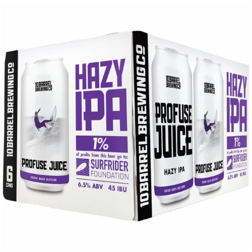 10 Barrel Brewing Profuse Juice Hazy India Pale Ale Perspective: front