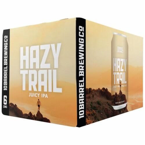 10 Barrel Brewing Hazy Trail Juicy IPA Perspective: front
