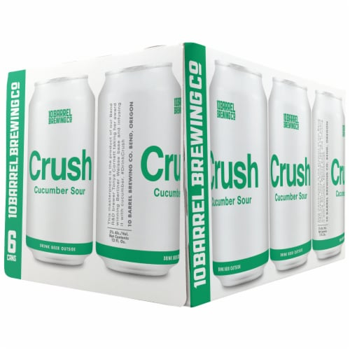 10 Barrel Brewing Crush Cucumber Sour Perspective: front