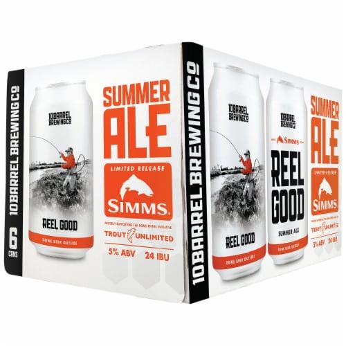 10 Barrel Brewing Reel Good Summer Ale Perspective: front