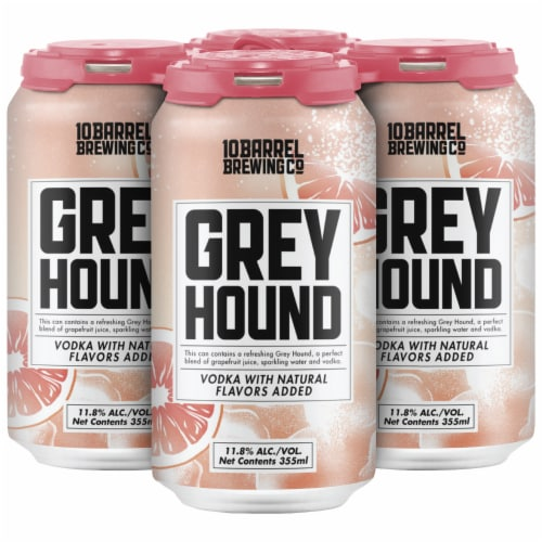 10 Barrel Brewing Greyhound Prepared Cocktails 4 Cans Perspective: front