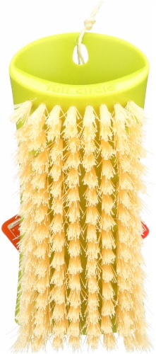 Full Circle Scrub Brush - Yellow Perspective: front