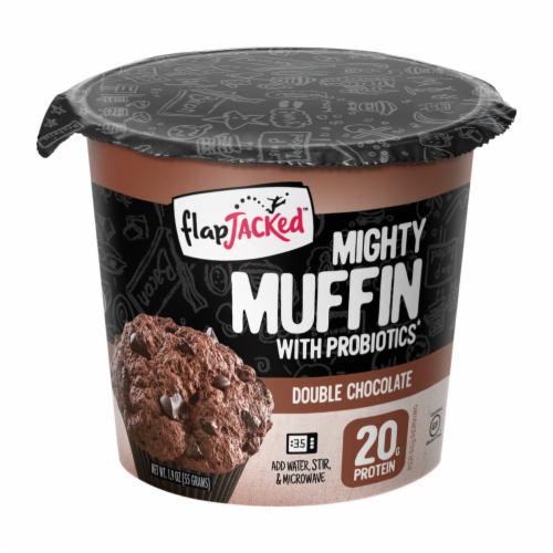 FlapJacked Double Chocolate Mighty Muffin Perspective: front