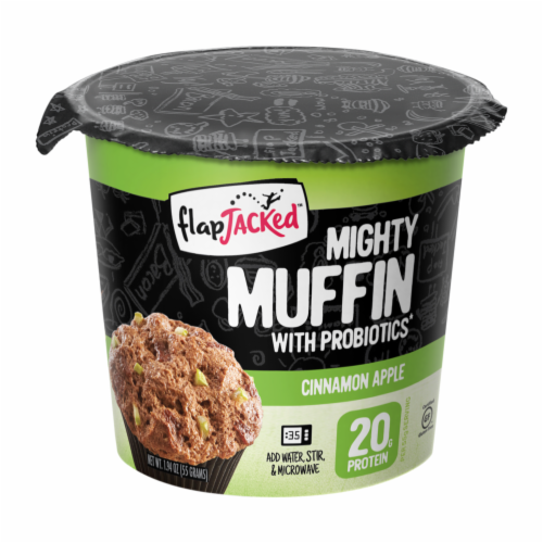 FlapJacked Cinnamon Apple Mighty Muffin Perspective: front