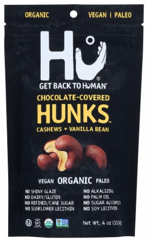 HU  Chocolate Cashews + Vanilla Bean Covered Hunks Perspective: front