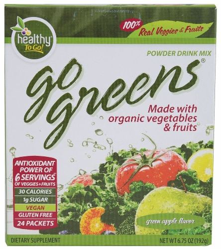 To Go Brands  Go Greens™   Green Apple Perspective: front