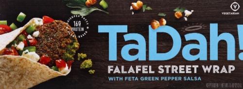 TaDah! Feta Salsa Falafel Wrap Perspective: front