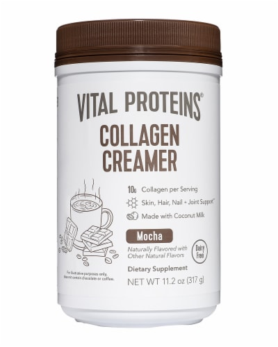 Vital Proteins Mocha Collagen Creamer Dietary Supplement Perspective: front