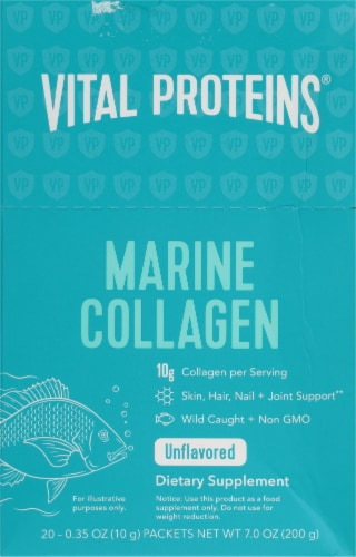 Vital Proteins Unflavored Marine Collagen Sticks Perspective: front
