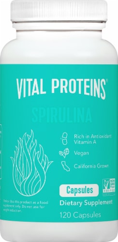 Vital Proteins Spirulina Capsules 650mg Perspective: front