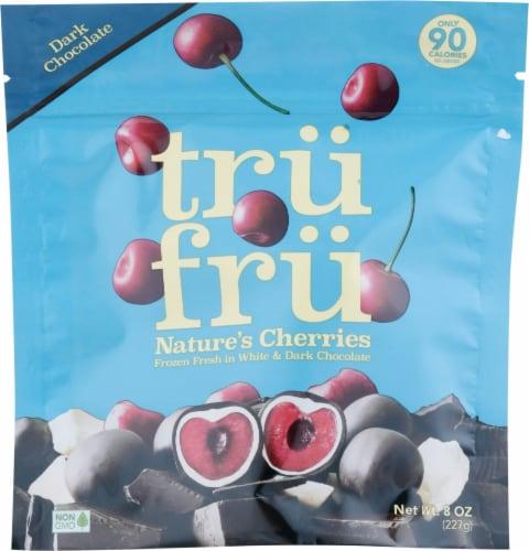 Tru Fru White & Dark Chocolate Frozen Whole Cherries Perspective: front
