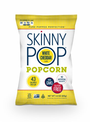 SkinnyPop White Cheddar Popcorn Perspective: front